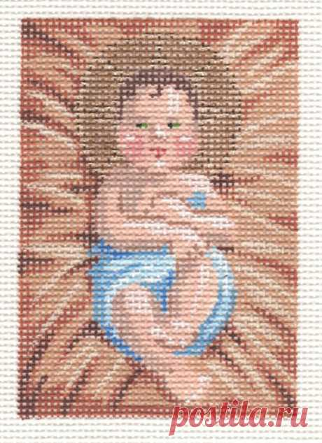Holy Family – Baby Jesus Adorable high-quality Holy Family - Baby Jesus. The Needlepointer is a full-service shop specializing in hand-painted canvases, thread fibers, needlepoint books, accessories, needlepoint classes and much more.