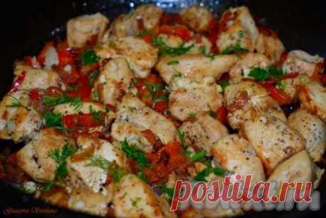 Куриное филе с болгарским перцем на сковороде - 10 пошаговых фото в рецепте