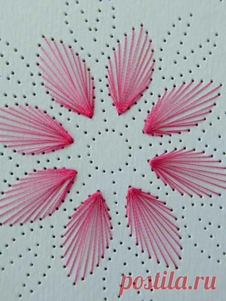 Вышивка изонитью: шаблоны цветов