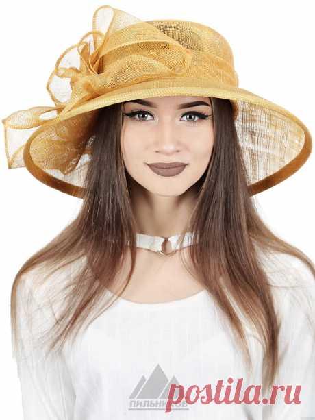 Шляпа Азали - Женские шапки - Из соломки купить по цене 3060 р. с доставкой в Интернет магазине Пильников