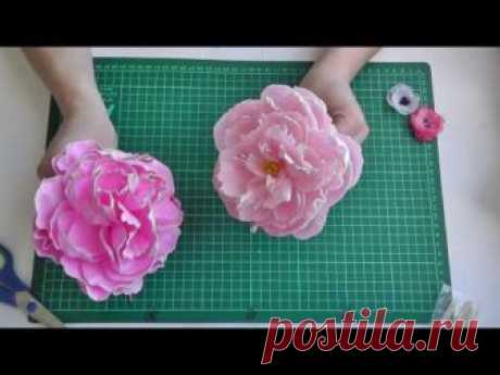 Templates of petals of a peony can be downloaded here: We Do to http:\/\/mk.delki.ru\/2017\/04\/pion-iz-foamirana.html a peony of a zephyrous foamiran. We use ready templates...