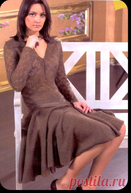 Платье «Катрин» » Школа машинного вязания