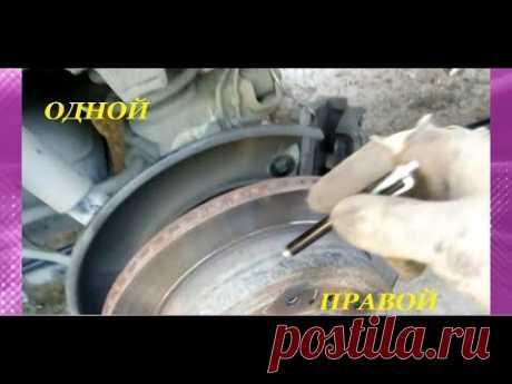 Замена тросов и колодок ручного тормоза на Toyota Land Cruiser Prado 120 и их регулировка