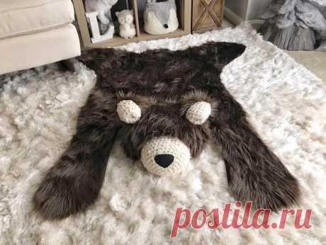 Меховые коврики в виде искусственных шкур животных для детской комнаты