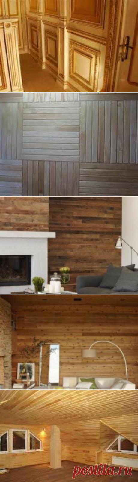 Варианты отделки внутренних стен деревом, виды материала, свойства