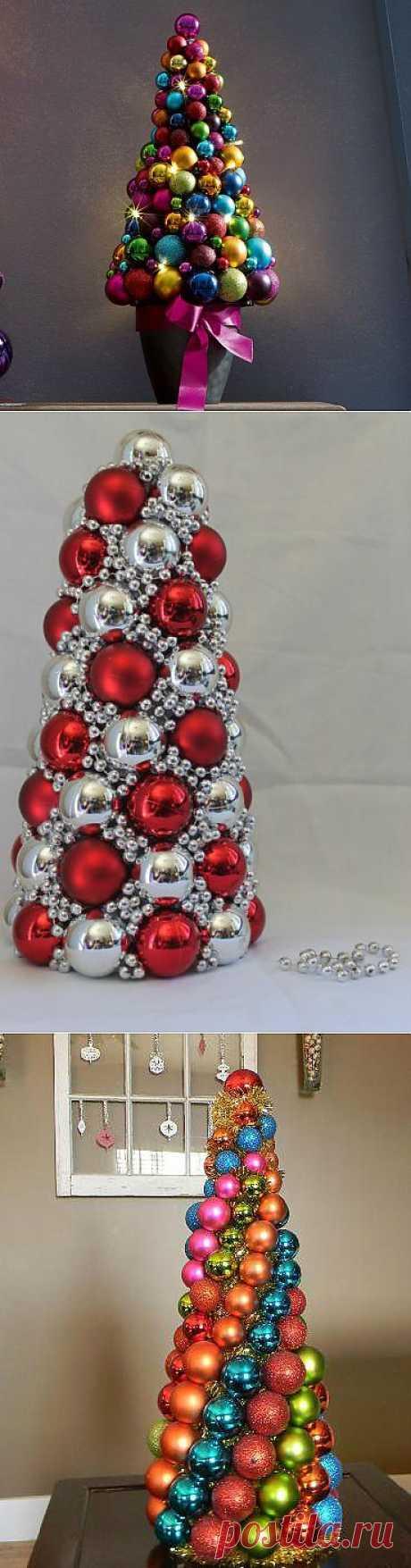 Новогодняя елка из шаров. Мастер-класс + видео | Домохозяйка