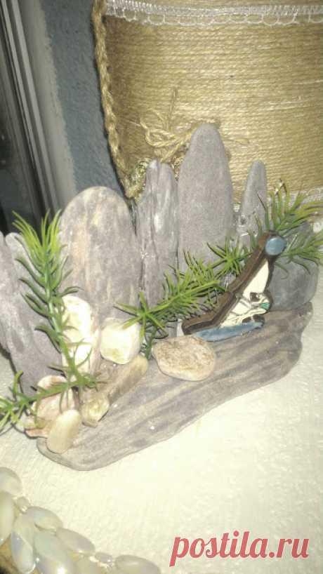 emekliyim.com - Geri Dönüsümün Merkezi: Deniz Tasları ile Mini Dekor Calısmalarım