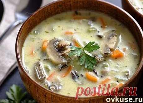 Сливочный суп с рисом и грибами - Простые рецепты Овкусе.ру