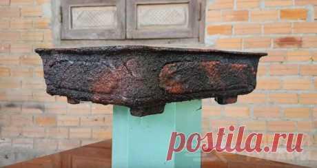 Создание горшка с эффектом натурального камня Горшки для домашних растений часто представляют такую же декоративную ценность, что и сами цветы. Создать своими руками декоративное кашпо всегда