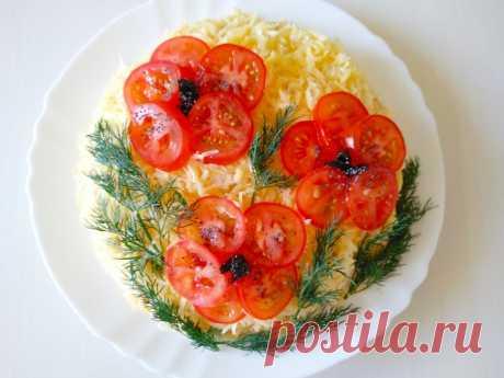 Шикарный салат на праздничный стол «КРАСНЫЕ МАКИ». | Inna Lime | Яндекс Дзен