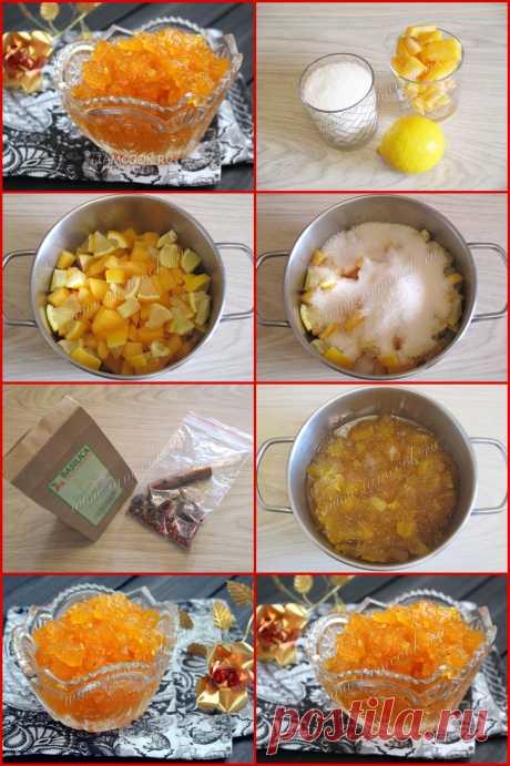 ВАРЕНЬЕ ИЗ ТЫКВЫ С ЛИМОНОМ  Мякоть тыквы - 1 кг;  Лимон - 1-2 штуки;  Сахар - 1 кг  Пряности по вкусу: корица, кардамон, имбирь, анис, бадьян или гвоздика.