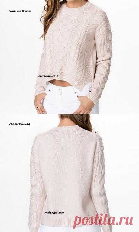 Вязаный пуловер спицами от Vanessa Bruno | Вяжем с Лана Ви