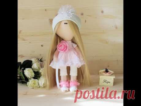 Textile doll of 25 cm in height master class