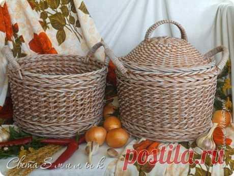 Плетем из газет корзины для овощей