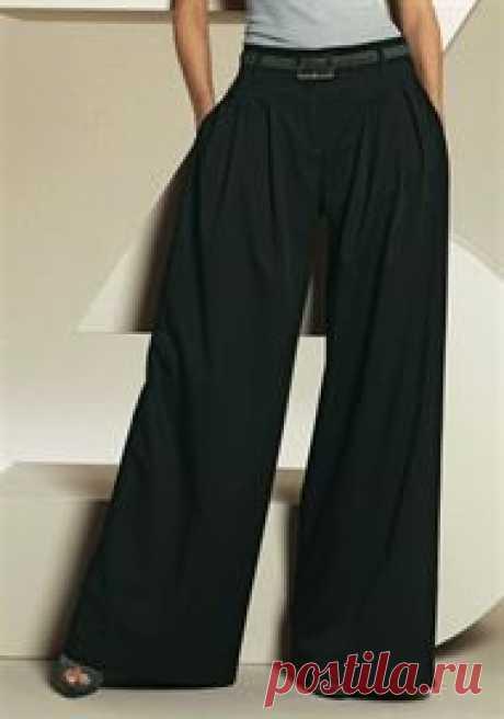 Выкройка широких брюк. Шьем широкие брюки для полных