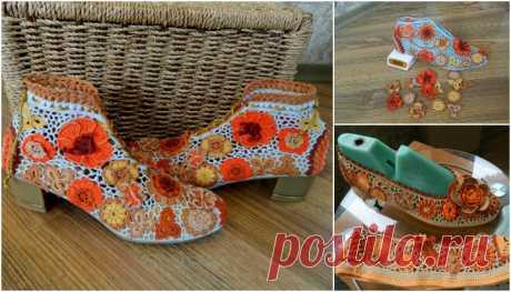 Örgü Ayakkabı Modelleri - 42 Adet Yazlık Örgü Ayakkabı Modelleri - El Sanatları ve Hobi