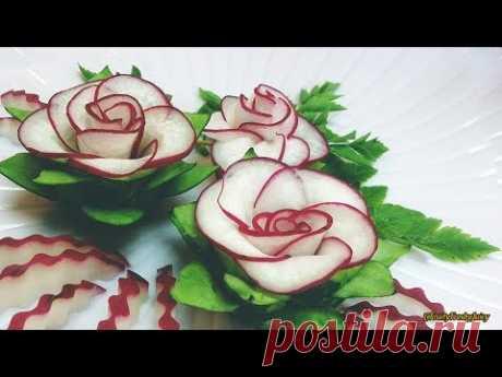 Лучший овощ для цветочного дизайна - Red Radish & Cucumber