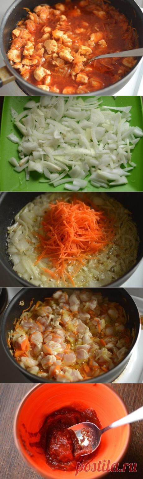 Как приготовить гуляш из курицы - рецепт, ингридиенты и фотографии