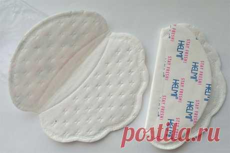 Прокладки для подмышек от пота и их разновидности