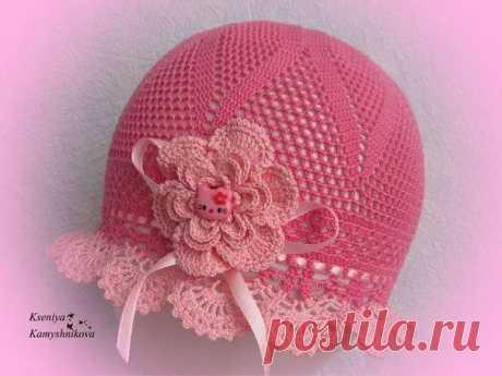 Летняя шляпка для девочки