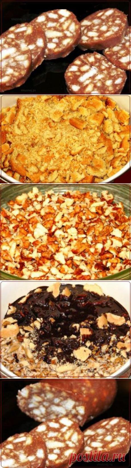 Колбаса шоколадная | Рецепты вкусно