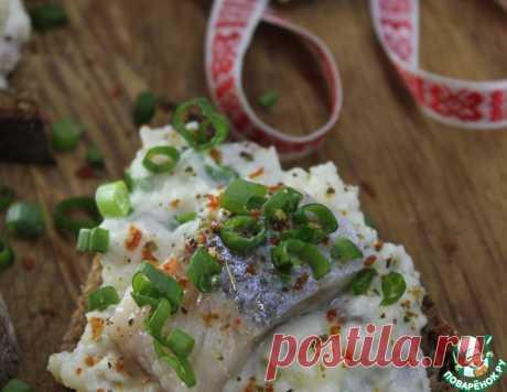 Гарда из сельди, картофеля и зелёного лука – кулинарный рецепт