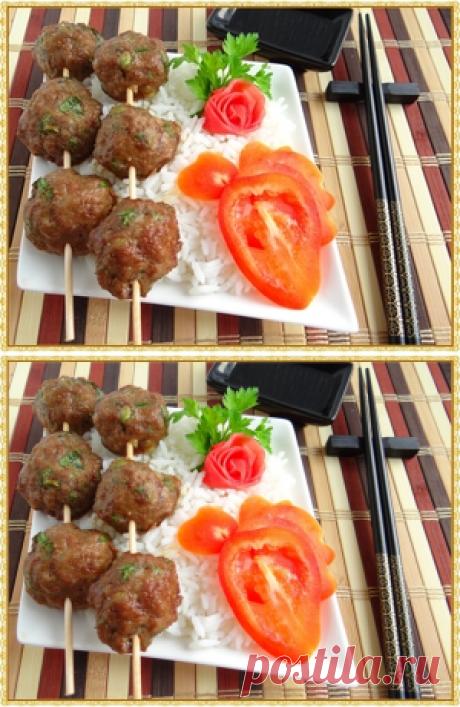 Рис с куриными фрикадельками по-тайски рецепт с фотографиями