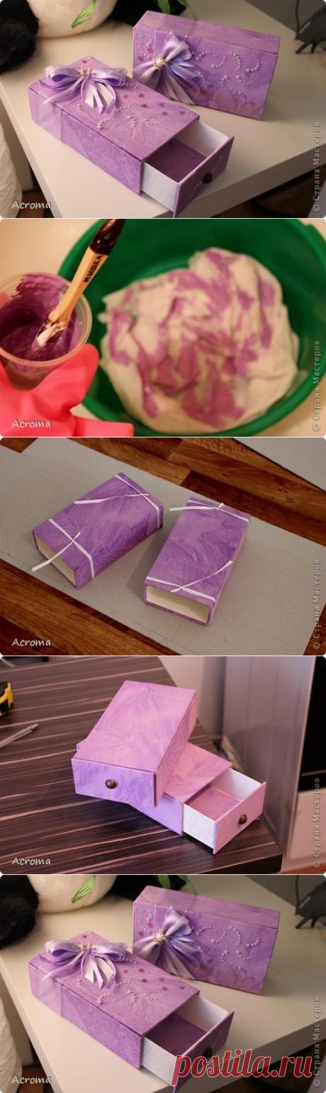 Красим ткань и делаем из неё шкатулки