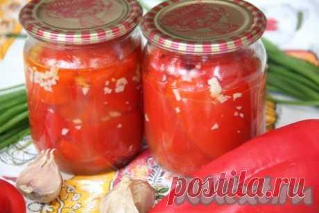 Сладкий перец в масле на зиму - рецепт с фото