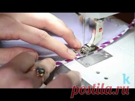 Обработка внутренних швов сумки. Мастер класс