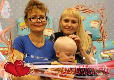 С бабулей и мамой