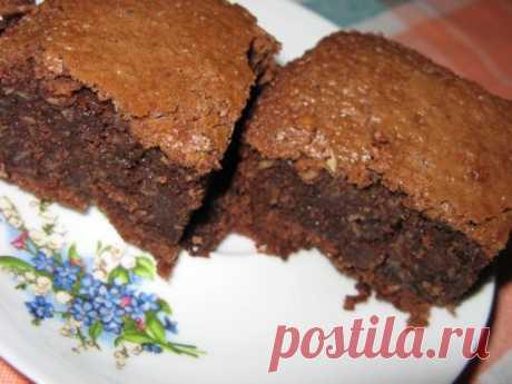 Шоколадно-кокосовые Брауни