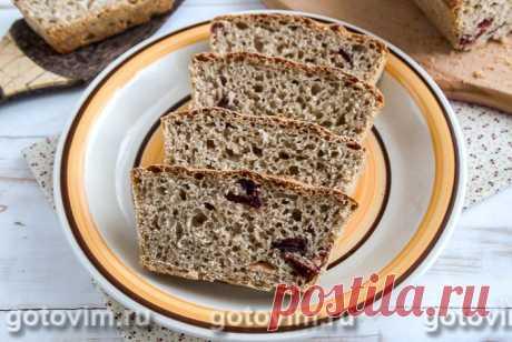 Ржаной хлеб с сушёной клюквой ржаная мука - 300г вода - 350 мл сухие дрожжи - 6г клюква сушеная - 2 ст. л. сахар - 1 ст. л. соль - 1 ч. л.