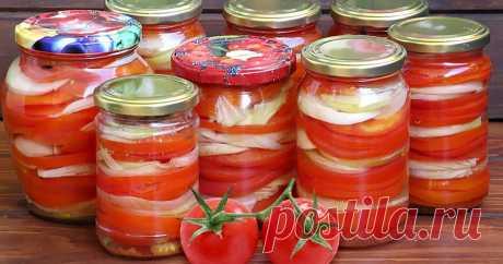 РЕЦЕПТЫ «Киевский» салат из помидоров на зиму Салат из помидор, перца, моркови...