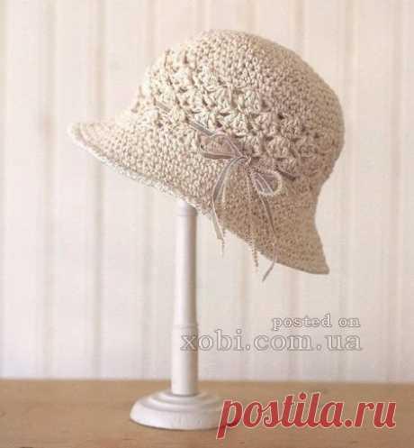 Женские вязаные шапки, шляпки, береты, кепки, панамки и повязки на голову » Страница 7