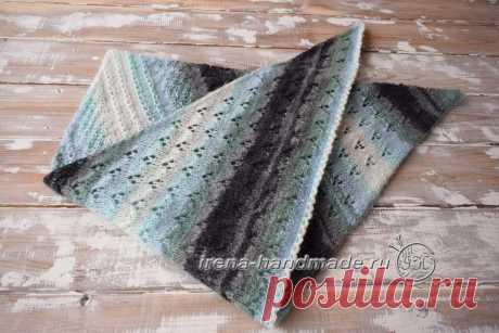 Скандинавский платок «Морской бриз» (вязание, схемы и фото) - Irena Handmade