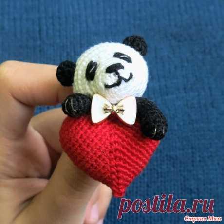 . Брошь Панда-валентинка (+ опрос) - Амигуруми - Страна Мам