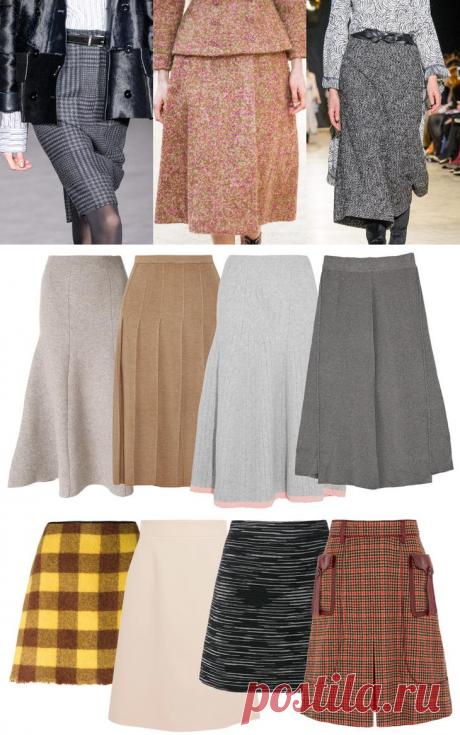 Утепляемся на зиму — модные юбки из драпа и шерсти