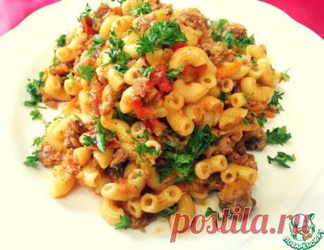 Жареные макароны в овощном соусе – кулинарный рецепт