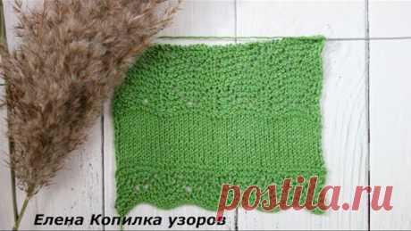 Вяжем узор от Хитоми Шида для обвязки края схема/Knitting a pattern from Hitomi Shida to tie the