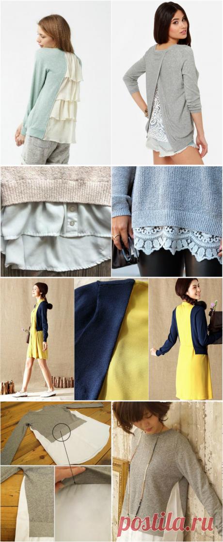 Суперидея для барышень с фантазией: пара надрезов на старом свитере — неповторимый наряд готов!