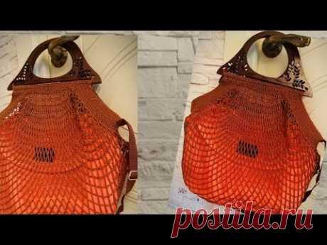 #Вязание #Модная #авоська-гамак Кошка-паук Долой пластиковые пакеты!