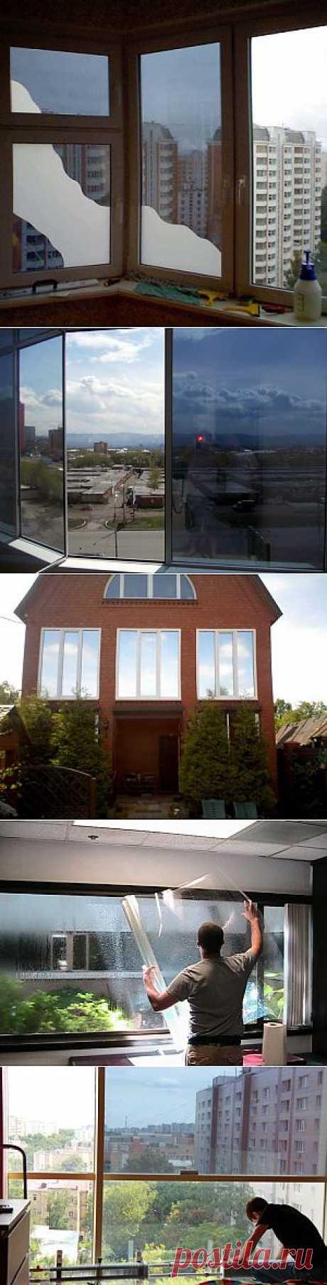 Тонировка окон в квартире своими руками: всё гениальное просто