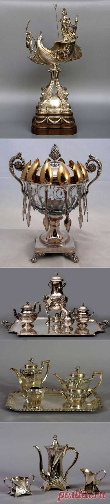 Антикварно-аукционное серебро.