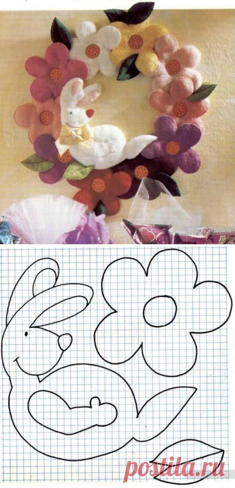 El artículo de la tela - la corona \/ la Tilde, los juguetes suaves por las manos, el patrón \/ KluKlu. La costura - biseropletenie, kvilling, el bordado por la cruz, la labor de punto