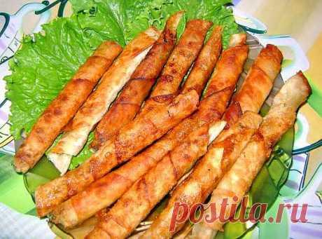 Закусочные рулетики из армянского лаваша с начинкой - Kulinarnyj-Recept.��