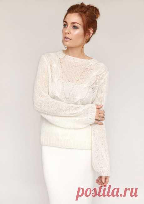 Пуловер из мохера Mode - Вяжи.ру