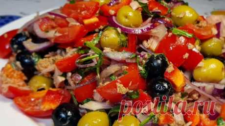 Праздничный салат из тунца: вкусная закуска на скорую руку