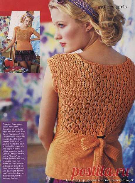 Tie Back Shell (Knit.1 spring/summer 2009).