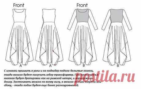 Простая юбка-бохо